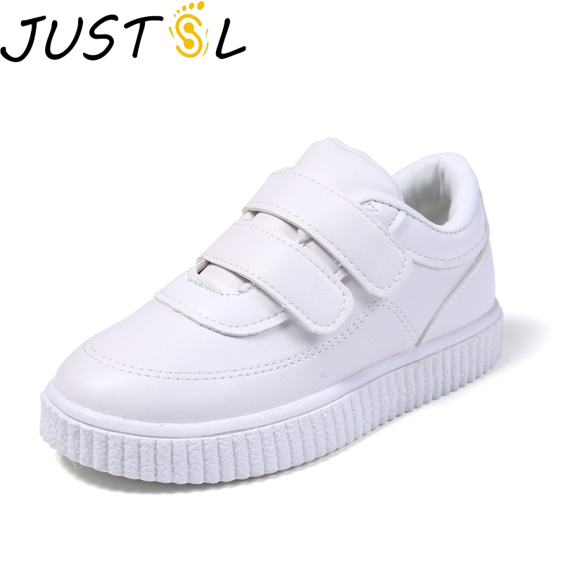 2018 Autumn New Style 1-3-6-Year-Old Children's Shoes Boys Sports Shoes Girls Leisure Shoes Soft Bottom White Shoes Tide