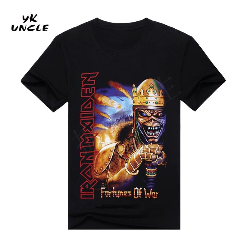 YK ONKEL Marke 2017 Neue Sommer Stil T-shirt Männer 3D Gedruckt Metal...