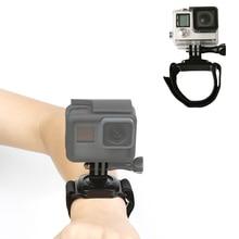 купить SHOOT 360 Degree Rotation Hand Wrist Strap Mount for Gopro Hero 7 5 6 4 Session Xiaomi Yi 4K SJCAM SJ6 Eken h9 Go Pro Accessory дешево