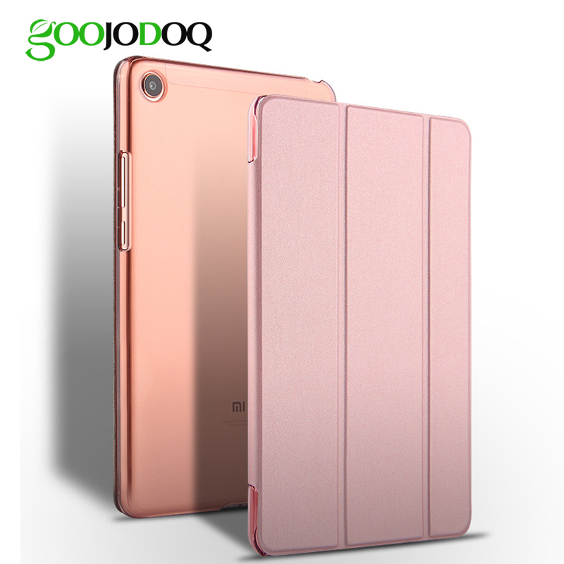 For Xiaomi Mi Pad 4 Case, GOOJODOQ Mi Pad4 Case PU Leather PC Hard Shockproof Thin Slim Cover for Xiaomi Mipad 4 Case Funda цена