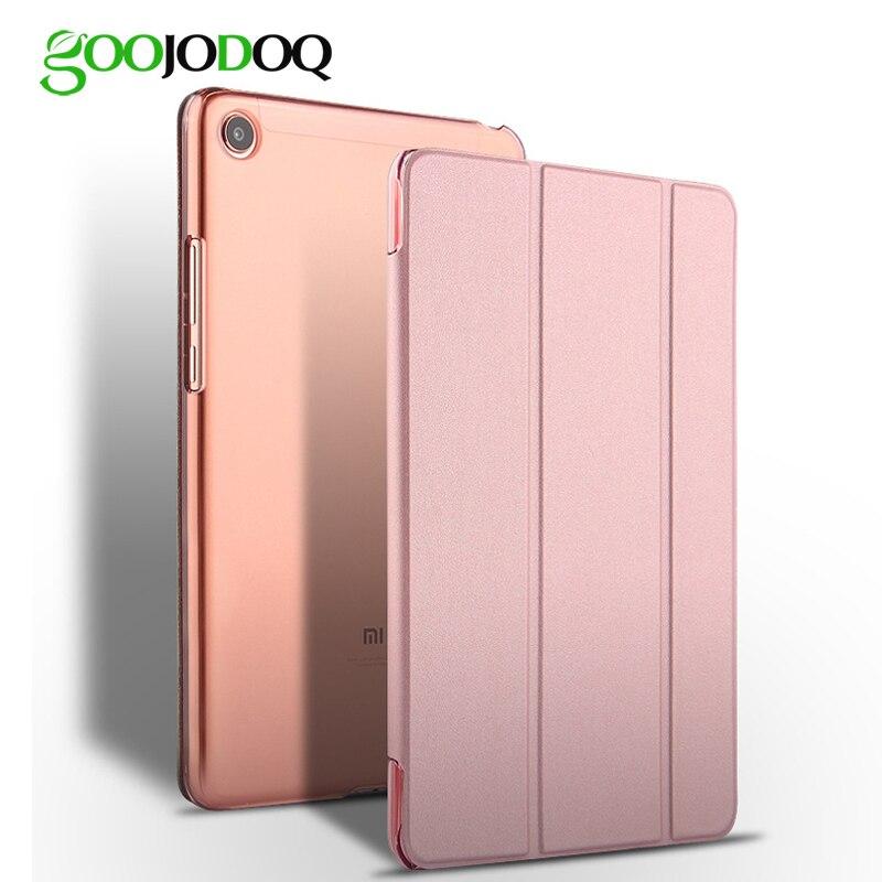 Para Xiao mi Pad 4, GOOJODOQ mi Pad4 caso PU cuero PC duro a prueba de golpes delgada cubierta delgada para Xiao mi pad 4 Funda