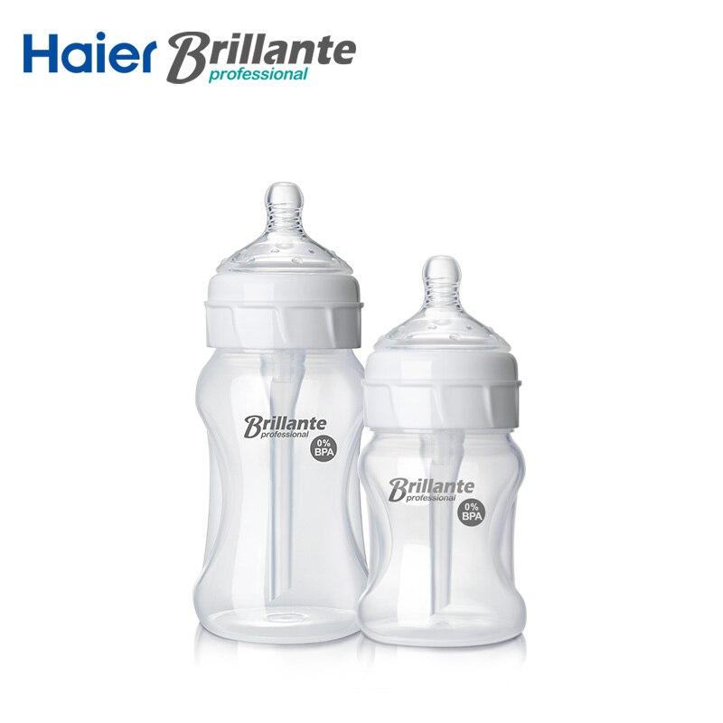Nuovo Brillante Bottiglia di Latte PP Biberon 150 mL 230 mL 5 oz 8 oz Alimentazione Neonato BPA Gratuito Cassaforte piccole bottiglie per bere