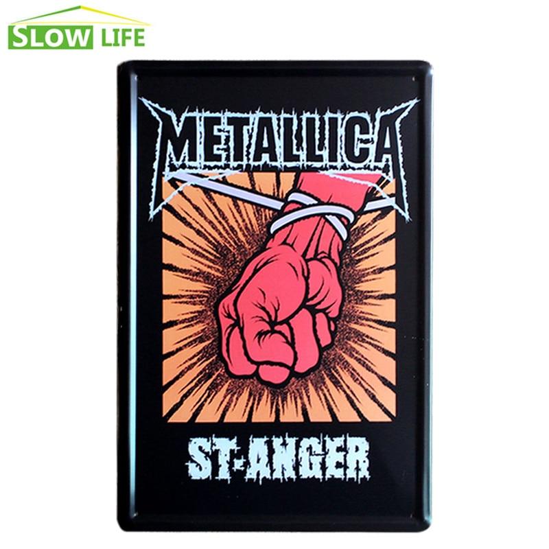 Metallica St.Anger Metal Tin Sign Bar Wall Decor Tin Sign Vintage Home Decor Metal Plaque Retro Metal Plate Vintage Metal Poster