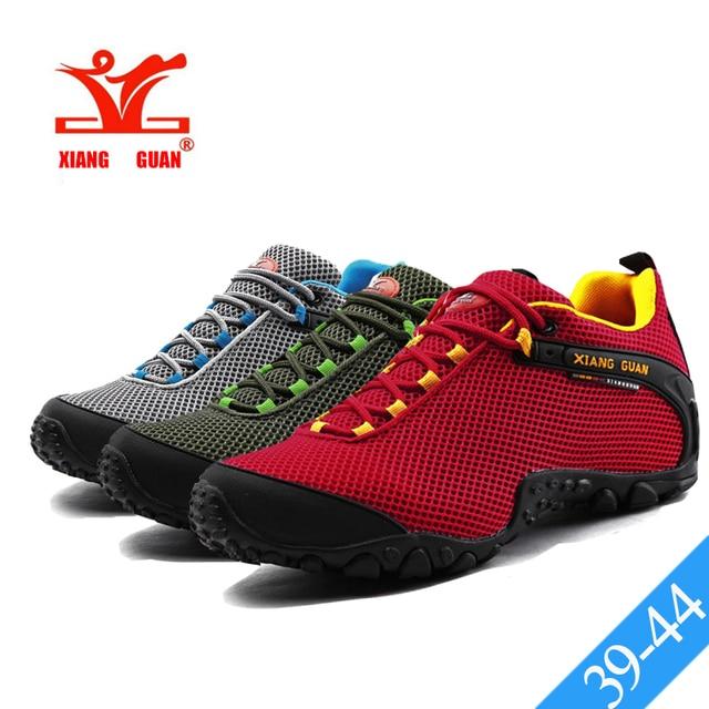 fd982676a9bb58 XIANG GUAN Rot Mesh Trekking Schuhe Herren Im Freien Sportlich Sport  Wanderschuhe Dämpfung Atmungsaktiv Männlichen Klettern