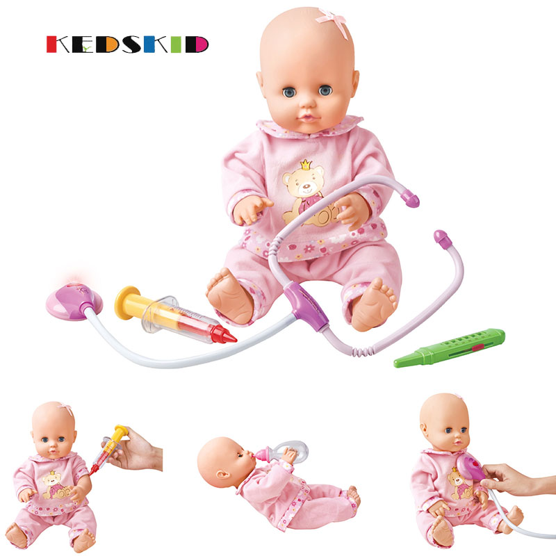 Mini Blink Baby Doll Vinyl Baby Alive Toys Girls Gift Pretend to be a doctor and inject toys birthday gife
