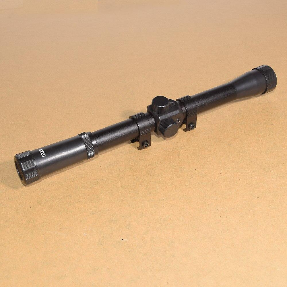 2PCS 4x20 Jagd Zielfernrohre Anblick Taktische Optik Airsoft Air Guns Scopes Sniper Absehen Pistole Reflexvisier Holographische anblick