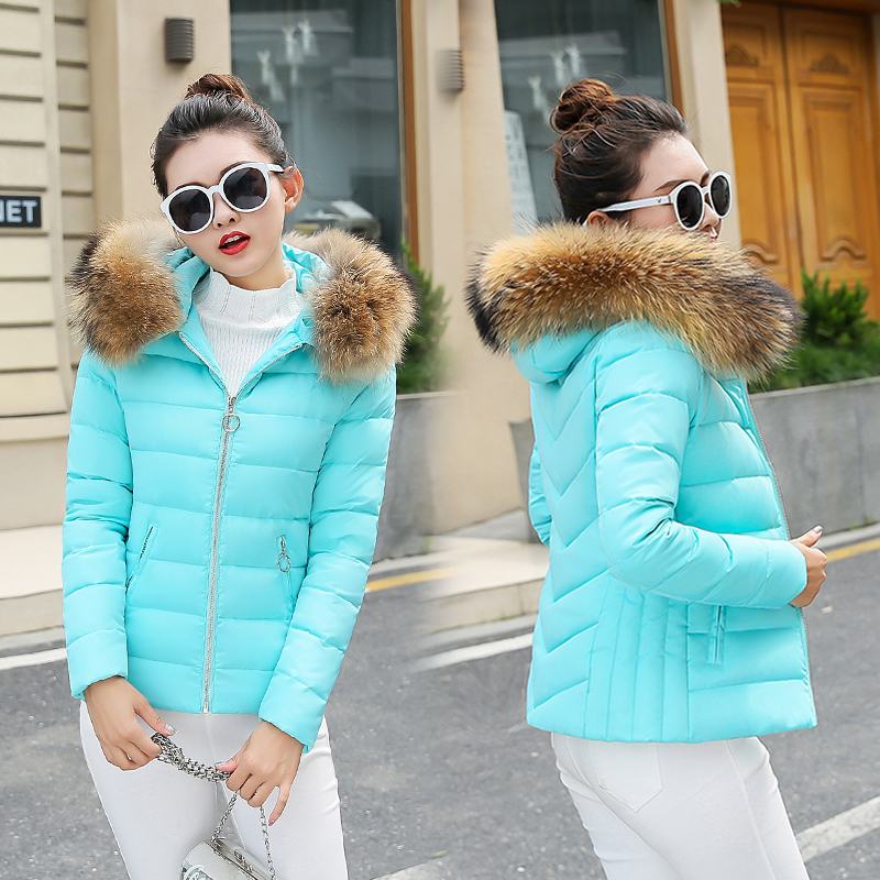 new women winter jacket 2018 hooded plus size 3XL with fur collar warm thick short parkas cotton padded female coats