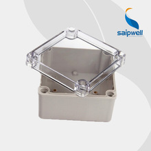 125*125*75mm   IP66  ABS Clear Waterproof Cable Box Plastic Enclosure with Transparent  Cover  (DS-AT-1212-S)
