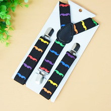 Suspenders with Adjustable Elastic Clip On