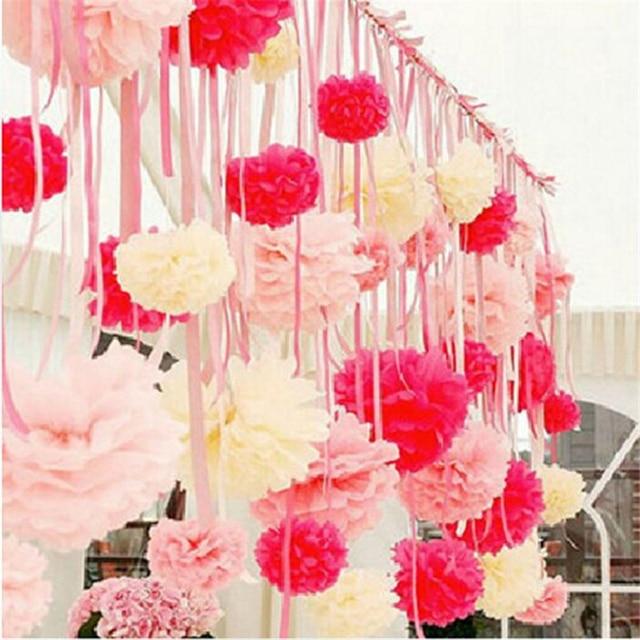 5pcs 6 15cm Tissue Paper Pom Poms Paper Flower Ball Wedding Home