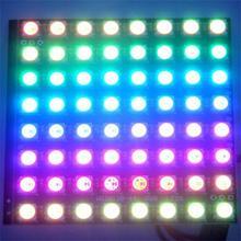 WS2812B 8×8 64-Bit Full Color 5050 RGB LED Lamp Panel Light Lamp Square Shape LED Ceiling Panel Light for Arduino