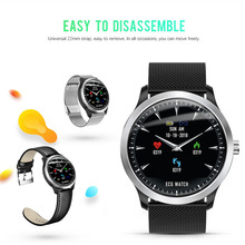 N58 ECG PPG Smart Watch HRV Report Heart Rate Monitor Blood Pressure Smartwatch Round Screen