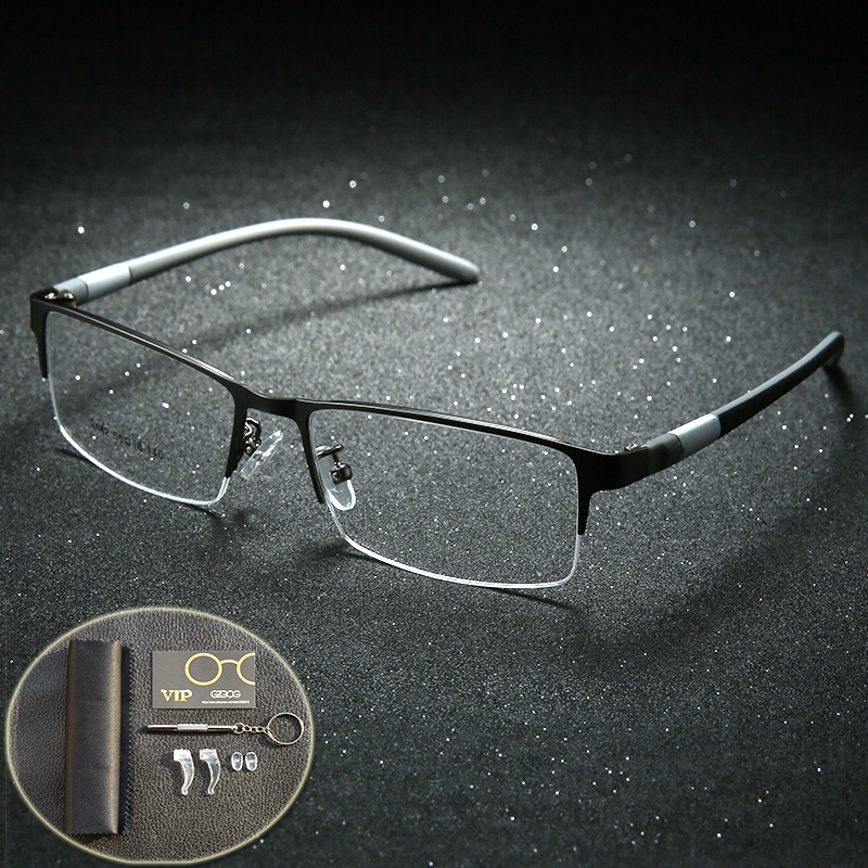 Eyewear Titanium Glasses Frame Men Eyeglasses Computer Optical Prescription Reading Clear Eye Lens Male Spectacle Lunette De Vue