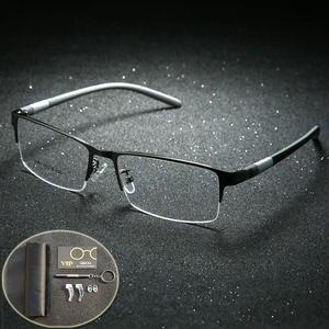 a0a1f98033 GZGOG Titanium Glasses Frame Men Eyeglasses Optical Clear