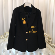 ARLENE SAIN CUSTOM women European and American high-end embroidered bee short suit coat female outfit free shipping