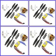 FPV 4 set 2212 1000KV Outrunner Motor + HP 30A ESC + 1045 prop (B) Quad-Rotor Multi A2212 FPV quadcopter