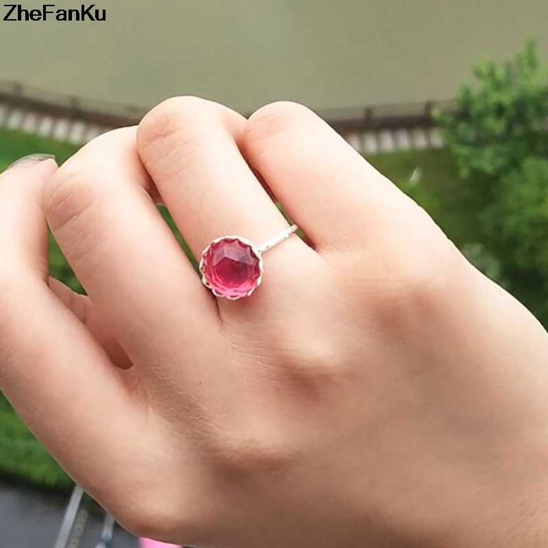 Fashion Luxury Rose Gold Ring Women Wedding Ring With Big Oval Green Stone Crystal Rings For Women Jewelry