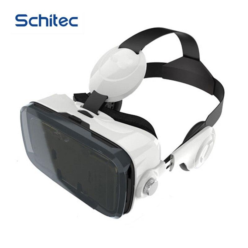 SCHITEC 3D <font><b>VR</b></font> Virtual Reality <font><b>Headset</b></font> 120 <font><b>VR</b></font> Virtual Reality 3D <font><b>Movie</b></font> <font><b>Video</b></font> <font><b>Game</b></font> <font><b>Glass</b></font> with Headphone for 4.7-6.2 inch Phone