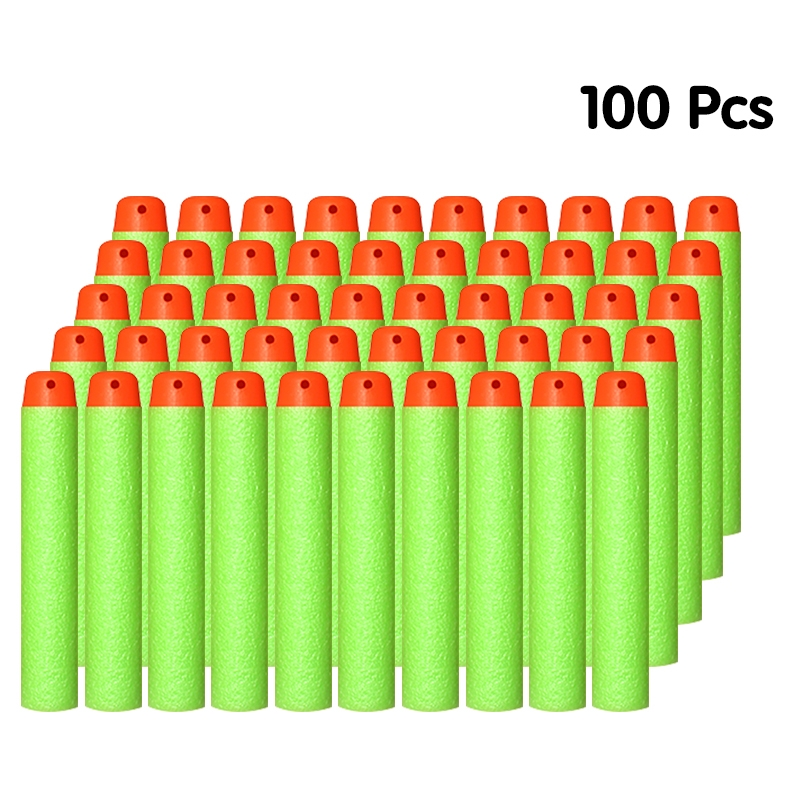 100PCS Soft Bullets For Nerf Bullets Soft Hollow Hole Head 7.2cm Refill Darts Toy Gun Bullets Series Blasters Kid Children Gift