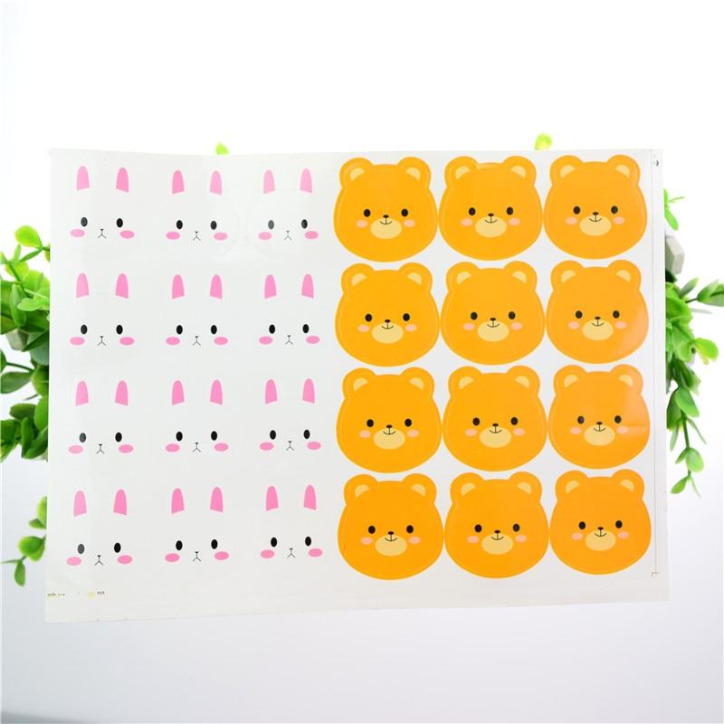 Seal Stickers Rabbit Bear Handmade DIY Seal Sticker Scrapbooking Envelopes packaging Label Cake Wrapping Baking Party