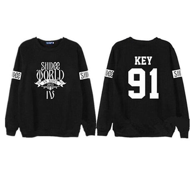 1f2eaea7869c8 Shinee concert fans supportive hoodies kpop taemin min ho o neck black  white sweatshirt plus size pullover polerones mujer