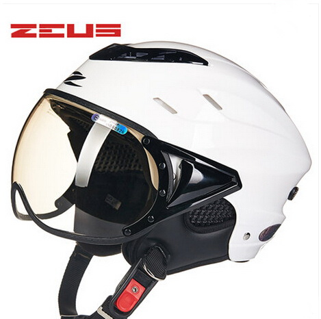 2018 Hot Sell ZEUS Half Face Bicycle Motorcycle Helmet ABS Half-covered Harley Retro Electric Bike Unisex Lightweight Helmets цена