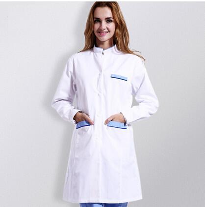 Hospital&Beauty Salon&Pet Hospital&Pharmacy Medium-long White Long-sleeve Scrub Coat Unisex Doctor Medical Clothing Lab Coat,J36