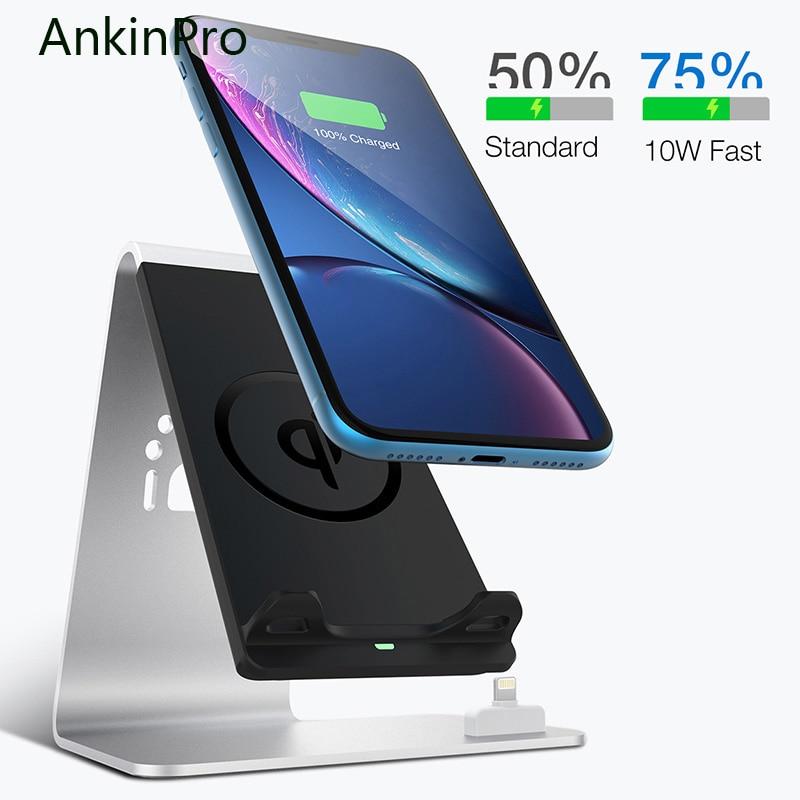 AnkinPro QI chargeur sans fil Charge rapide pour Samsung Apple Airpads iPhone 8 X support de téléphone portable Charge rapide 2.0 3.0