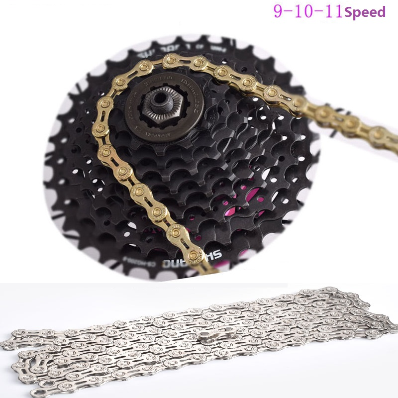 9//10//11 speed hollow MTB road bike bicycle chain ultra light speed change chain