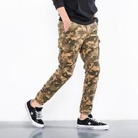 ICPANS Pants Full Leng Cotton Casual Skinny Military Tactical Pants Men Slim Stretch Khaki Black Camo