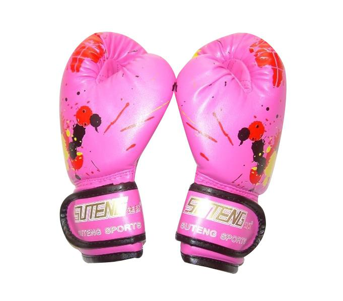 Mounchain Kinder Kids <font><b>Boxing</b></font> Handschuhe Cartoon Druck Atmungs Weichen PU Sparring Training Boxen Handschuhe Kickboxen Pads image