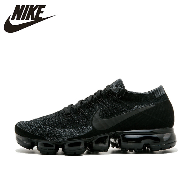 outlet store 33331 ca44e Nike Air Vapormax Flyknit Men s Running Shoes, Black, Breathable, Non-Slip,