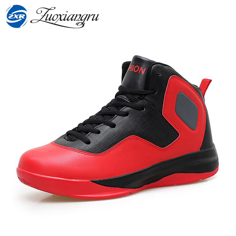 Zuoxiangru Men's Basketball Shoes Breathable Comfortable Sneakers Outdoor Athletic Training Rubber High Ankle Boots peak sport hurricane iii men basketball shoes breathable comfortable sneaker foothold cushion 3 tech athletic training boots