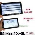 7 polegada Livre 4 GB Car Navegação GPS Navigator bluetooth & AV IN