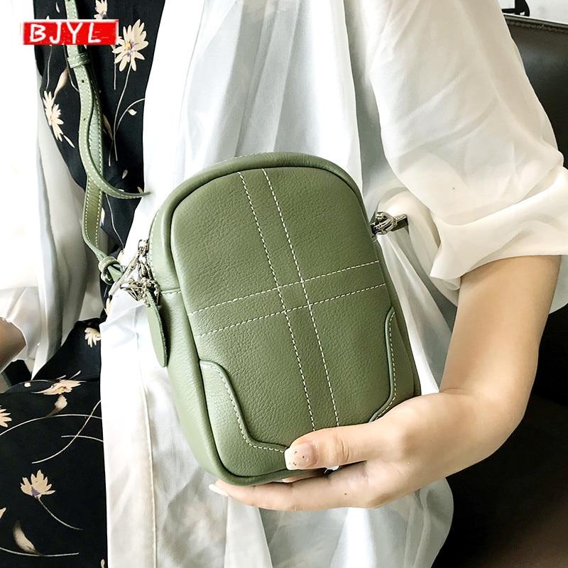2019 nouveau sac pour femmes en cuir véritable épaule messenger sacs mini téléphone portable sac à main femme décontracté femmes petits sacs à bandoulière