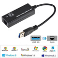 USB 3.0 to Black Gigabit Ethernet LAN Network Adapter Card 10/100/1000 Mbps Date Cable
