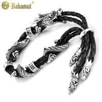 Bahamut lederen sieraden dragon armband de sasang heilige cloud rider supreme oude crystal zwart rood dragon armband