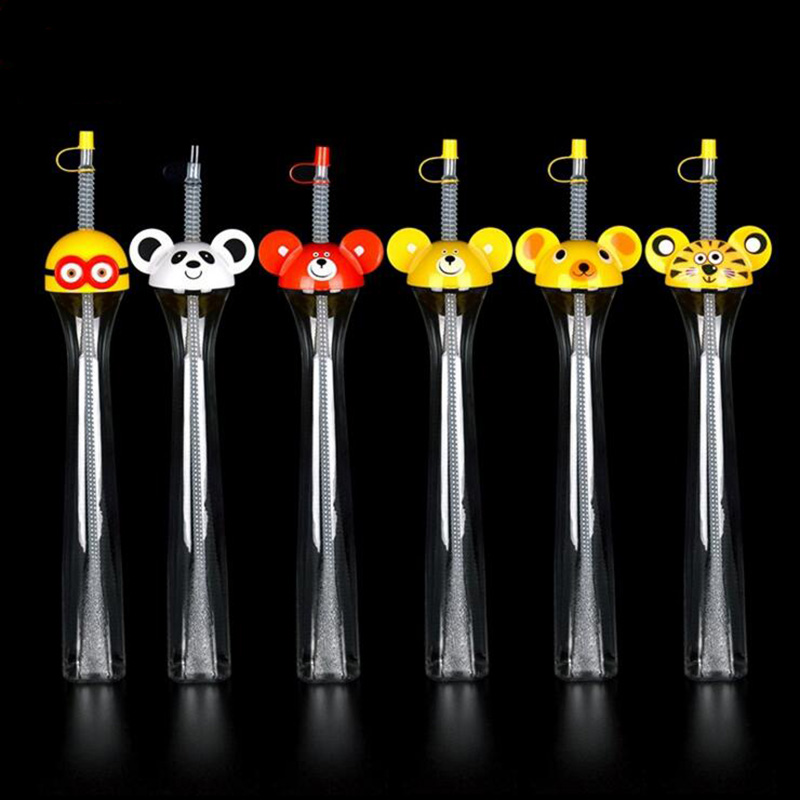 cute disposable plastic drink cooled creative bear drinking glasses onetime sippy wedding vending party