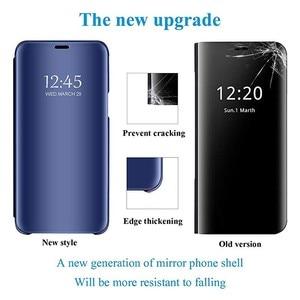 Image 4 - Étui pour Sony Xperia 1 5 XZ3 étui miroir intelligent vue claire en cuir PU béquille couverture rabattable pour Sony Xperia XZ3 Xperia 5 1 étui