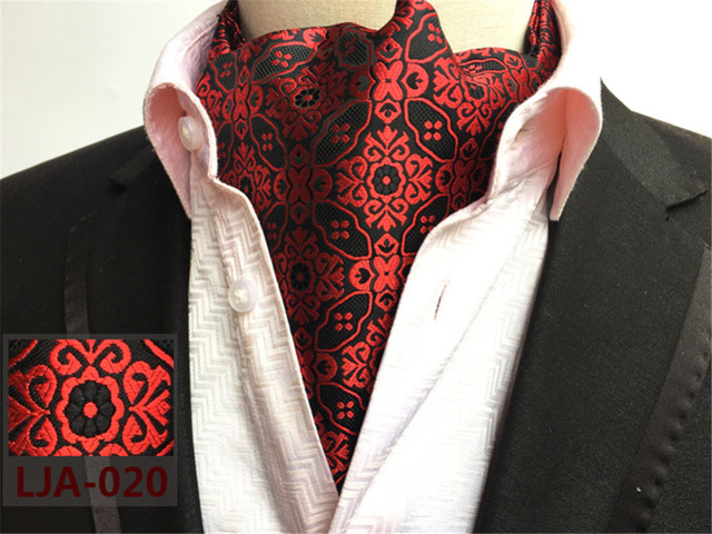 Cityraider Brand Paisley Print Men S Silk Cravat Wedding Cravats New Wine Red Mens Ascot Ties For