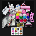 New Pro UV GEL Colorful UV Gel Nail Art Tools polish Set Kit  Free Shipping 36W UV lamp