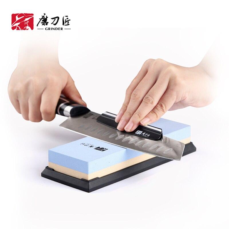 GRINDER Kitchen Knife Sharpener 180/600 Grit Corundum Whetstone Oil Stone Honing Stones Grinding Tool Grindstone TAIDEA