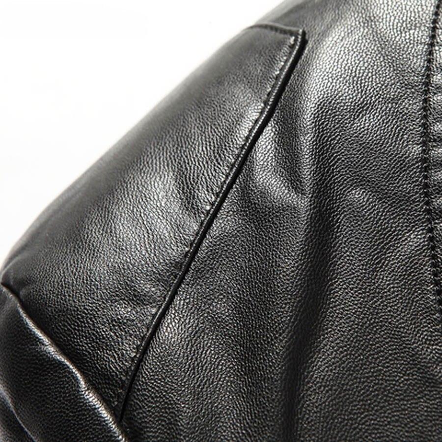 F2359 2 Fit Taille D'hiver Chaud color Neige Veste Manteaux En Épais Moto Et Cuir Slim Homme Tranchée Marque De Pu Vestes Hommes Grande Black TwZgRR
