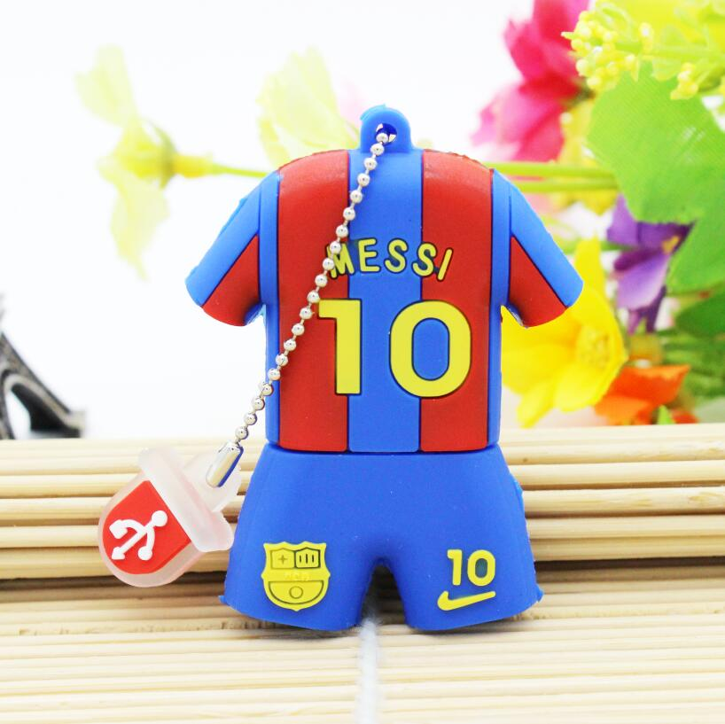 Jersey USB Flash Drive 4GB 8GB 16GB 32GB Pen Drive Trend Fashion Barcelona Messi Pendrive Memory Stick U Disk Gift Free Shipping