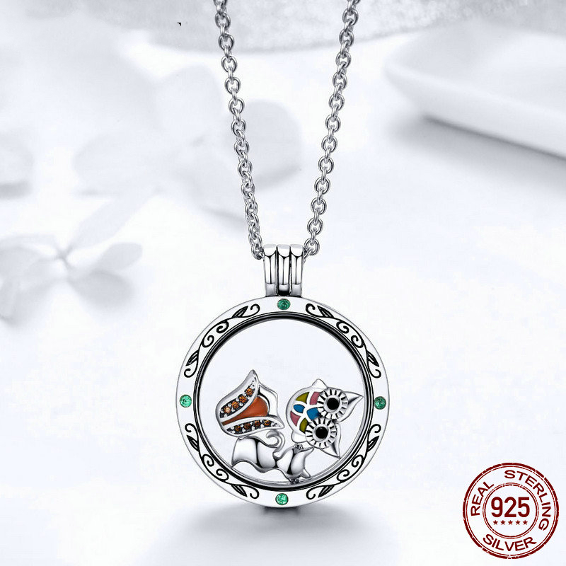 DISINIYA New Style 925 Sterling Silver Licorne Owl Cat Tree Of Life Petites Charm Fit Original Floating Necklace DIY Jewelry in Beads from Jewelry Accessories