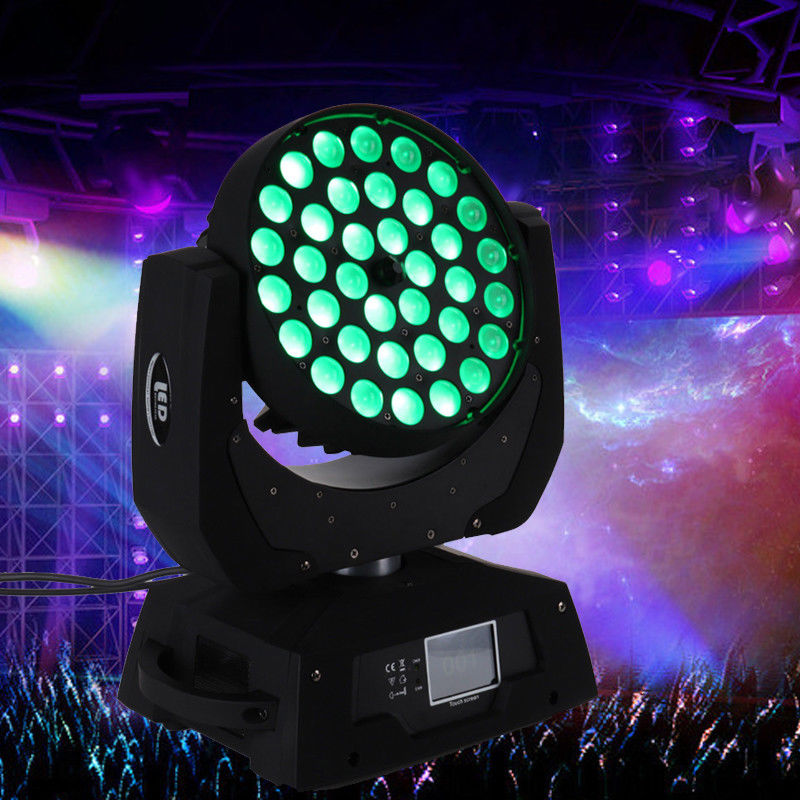 (Shipping From US )360W 110V RGBW 4in1 LED Multi Par Zoom Moving Head Stage Light Effect For Wedding Party Pub KTV Show