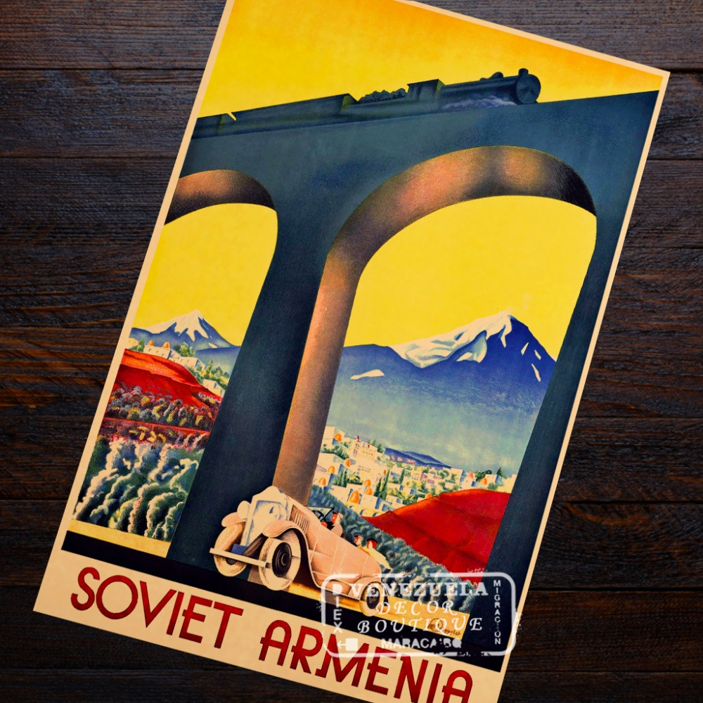 Soviet Armenia State Travel Company Intourist Travel Landscape View ...
