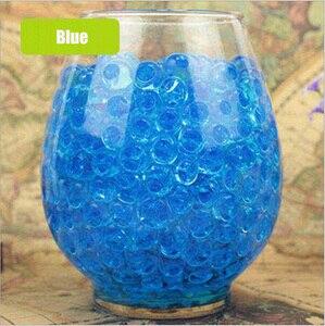 100pcs/lot Big Blue Crystal Soil Mud Hydrogel Gel Kids Children Toy Water Beads Growing Up Orbiz Water Balls Wedding Home Decor