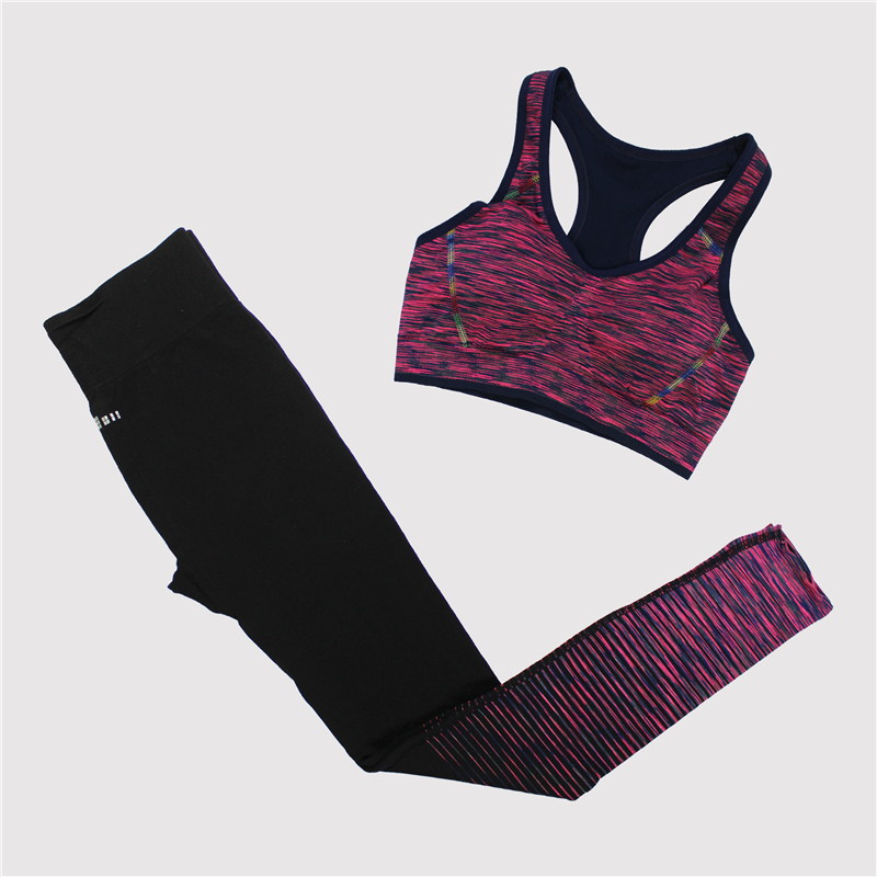 ᐊMaijion mujeres fitness Sets de yoga sin costuras Sujetador ...