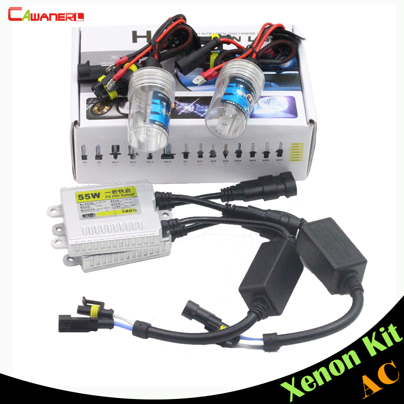 цены  Cawanerl 55W H3 AC HID Xenon Kit Bulb Ballast 3000K-15000K Conversion Car Headlight Fog Lamp DRL Daytime Running Light